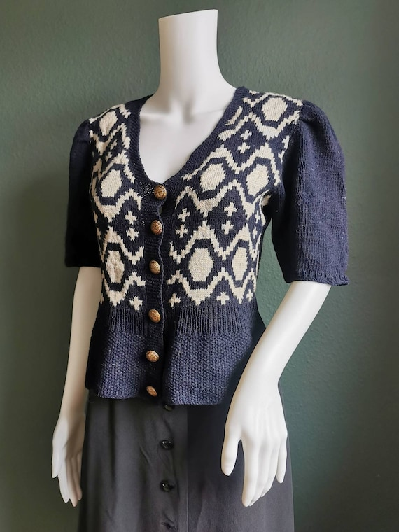 40s Vintage Knitted Sweater / Cardigan
