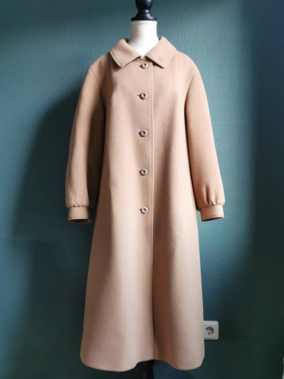 Vintage Camel colored Coat / Vintage Coat / Wool C
