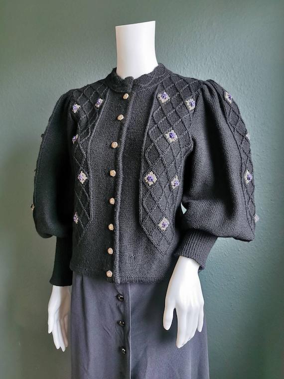 Vintage Trachten Cardigan / Folk Cardigan / Tyrole