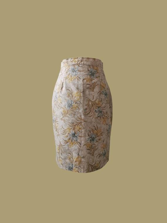 Vintage Laura Ashley Skirt / High waist skirt / Pe