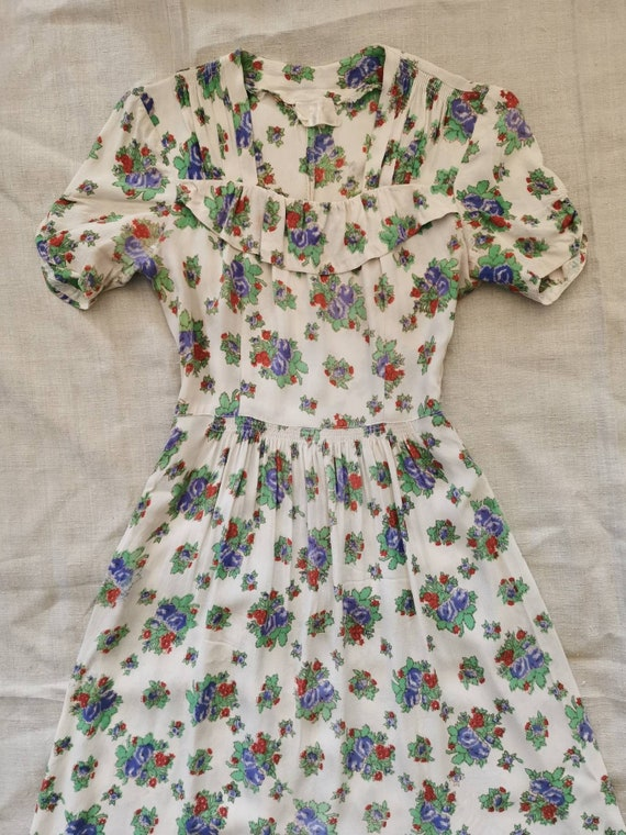 Late 1930s Dress / 30s Floral dress / Early 40s Dr