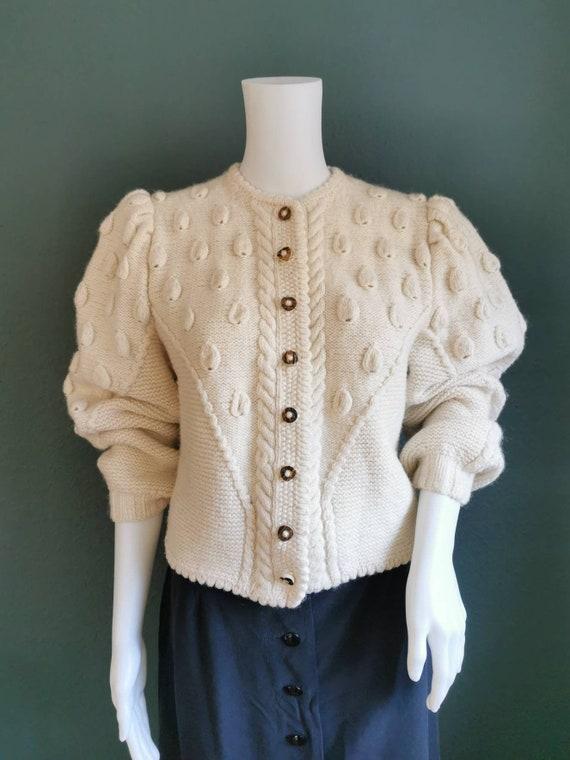 Vintage Folk Cardigan / Trachten Cardigan / Puffed