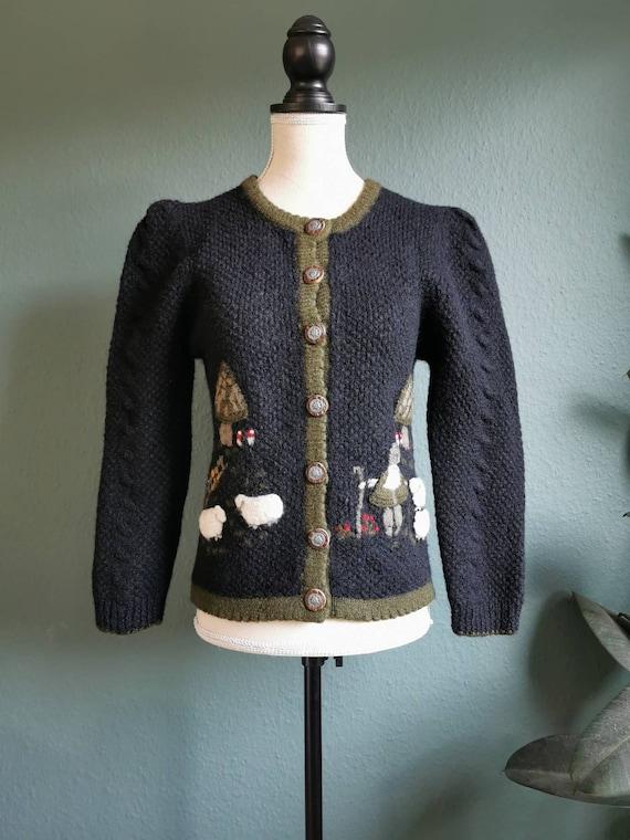 Vintage Folk Cardigan / Trachten Cardigan / Tyrole