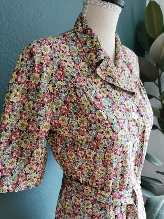 1940s Dress / 40s Day Dress /  40s Floral Dress /… - image 2