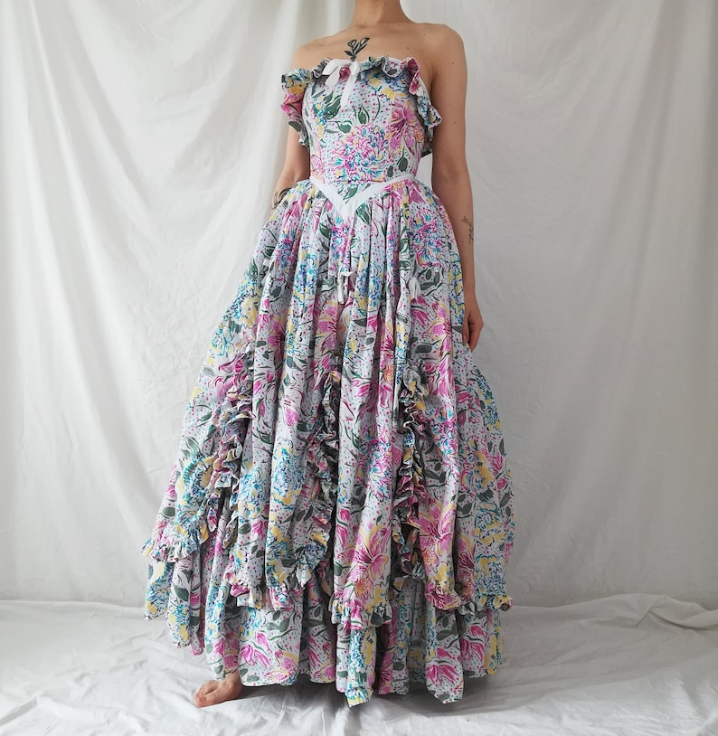 43978e7e4b2 Vintage Laura Ashley Southern Belle Dress   Ball Gown   Prom