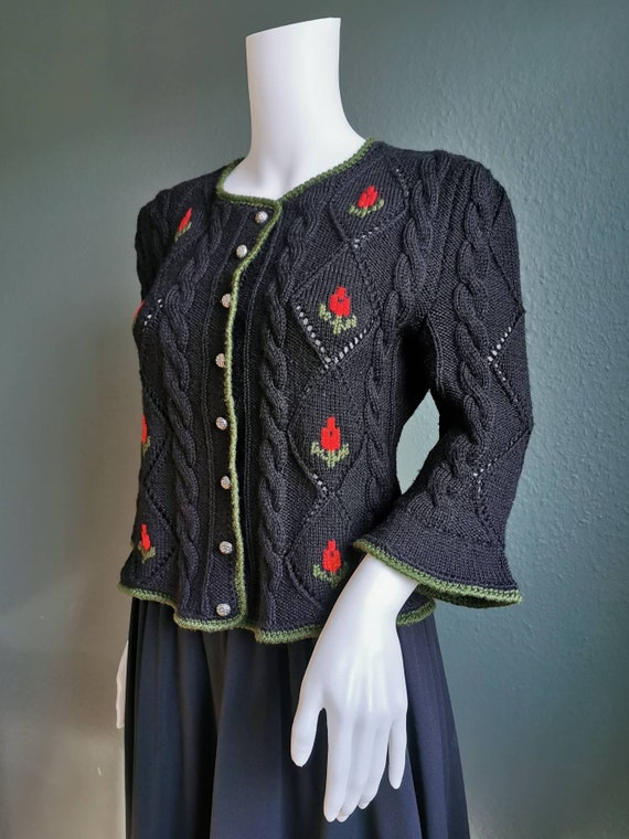 Vintage Folk Cardigan / Vintage Trachten Cardigan
