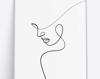 173afc0121f31 Line art | Etsy