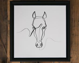 Single Line Art Print : Contour line drawing etsy