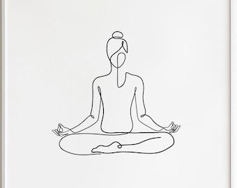 Yoga poses | Etsy
