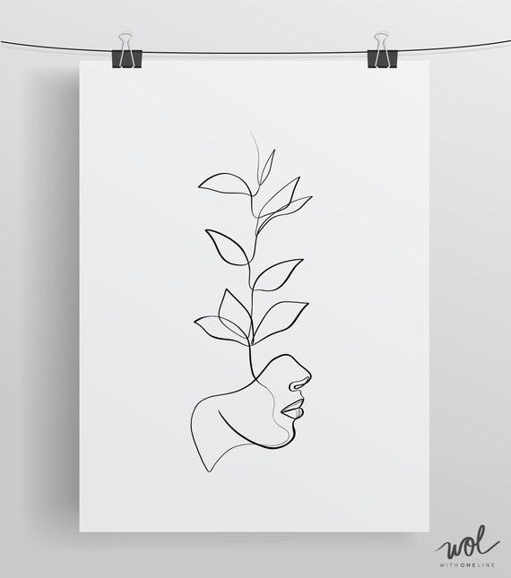 Printable Minimal Art Minimal One Line Drawing Abstract Print Wall Art Single Line Drawing Female Line Art Abstract Art Line Art