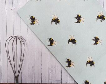 Bumblebee linens etsy bumblebee tea towel junglespirit Image collections