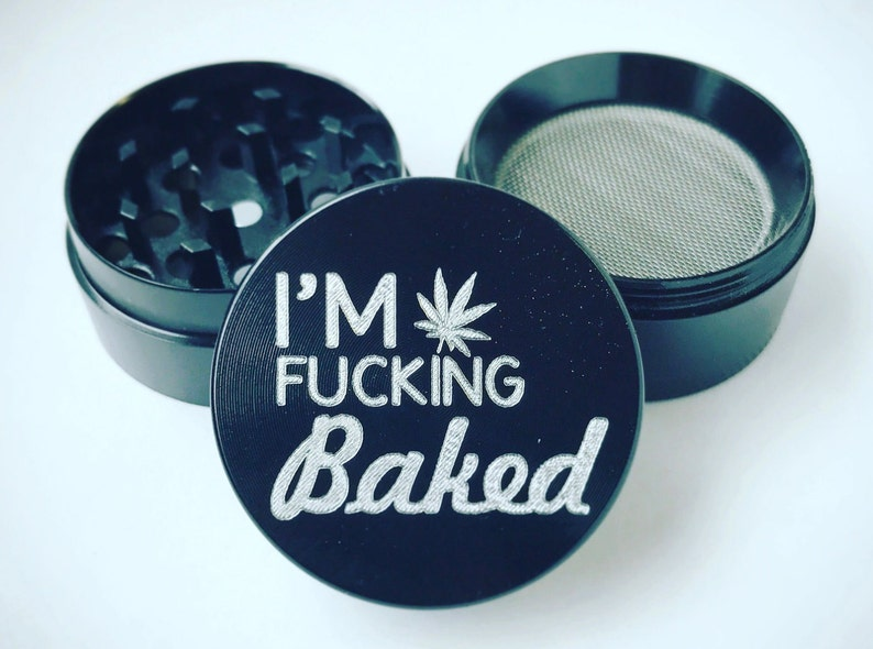 I/'m Baked Marijuana Lasts forever art gift Custom funny 4 piece metal herb grinder weed PREMIUM Quality cannabis 420 novelty