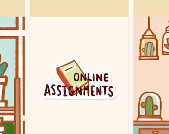 online study sticker etsy