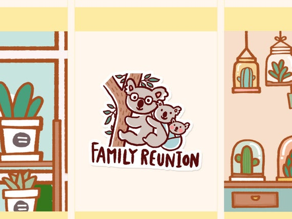 cute family reunion sticker family reunion planner stickers | etsy