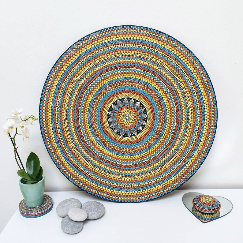 Unique Large 50cm Mandala Wall Art image 0