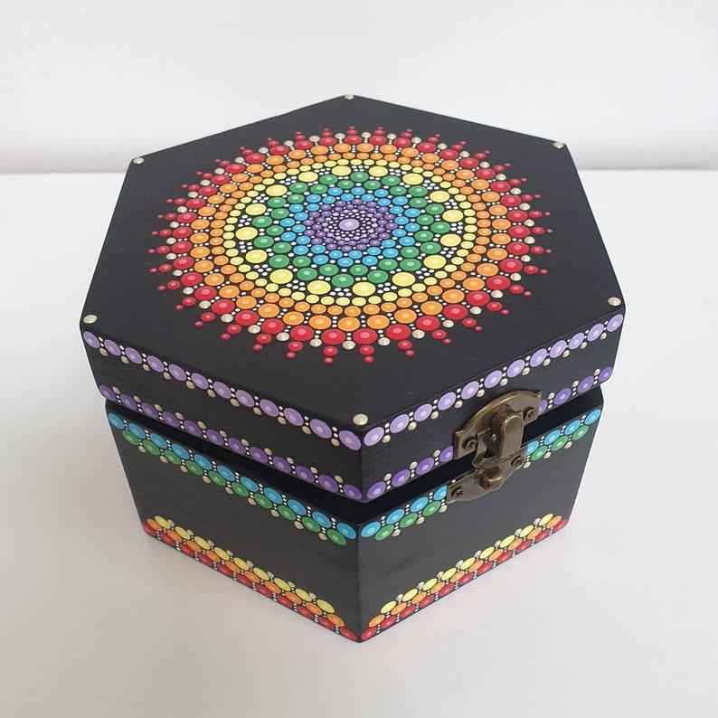 Chakra Mandala Jewellery Box image 0