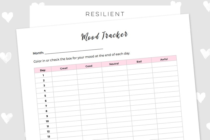 photo regarding Printable Mood Tracker referred to as Regular monthly Temper Tracker Printable - Electronic Crimson Each day Temper Tracker Printable, Psychological Health and fitness, US Letter Measurement or A4 - Prompt Obtain