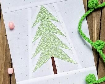 Christmas Tree Paper Piecing Pattern, PDF