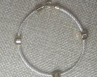 Vintage Napier Rope Bracelet with Faceted Stations