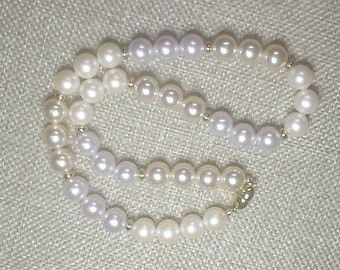 """Vintage Monet 16"""" Faux Pearl Necklace"""