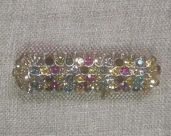 Vintage Natasha Gorgeous  Holiday Stretch Rhinestone Bracelet