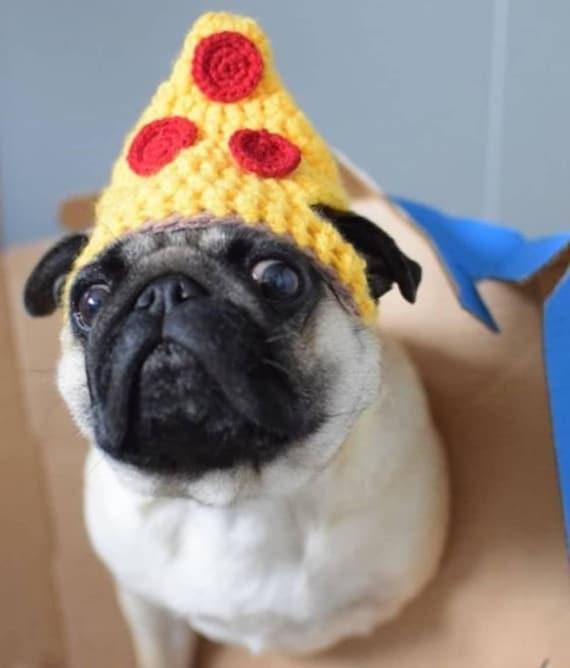Crochet Pizza dog Hat pizza hat pug hat hats for dogs hats  c5133b3420e