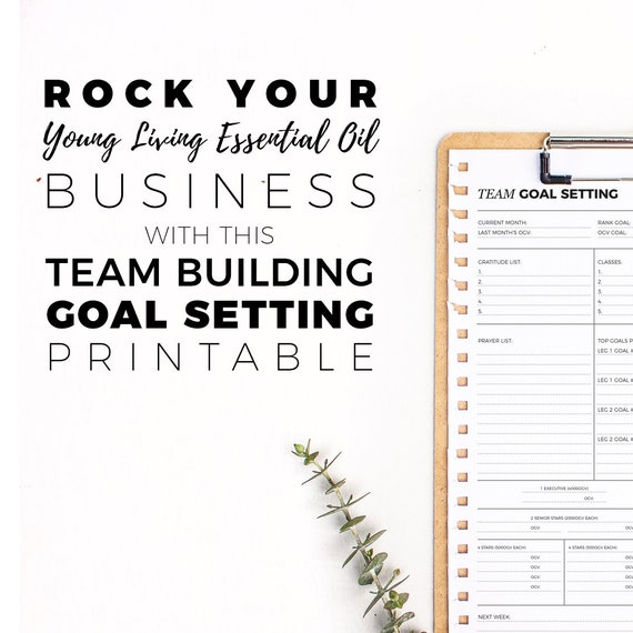 Silver Team Goal Setting Worksheet Download Etsy