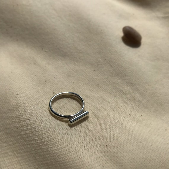 Recycled Silver Bar Ring