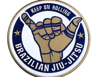 Jiu Jitsu Against Racism Anti Racism 3 Inch Patch Badge