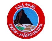 Inca Trail Cusco Machu Picchu Peru Patch Embroidered Iron or Sew on Badge Applique Mountain Trek Souvenir Rare