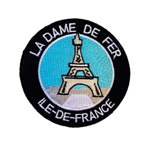 Viva La France Paris Iron on Patch 3.5 Inch Embroidered Trekking Travel Badge Souvenir
