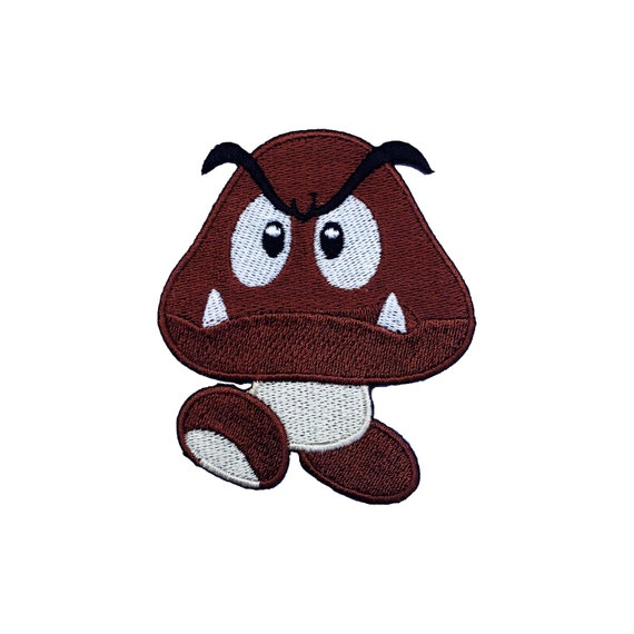 Goomba Patch 3 Inch Super Mario Brothers Embroidered Iron Or Etsy