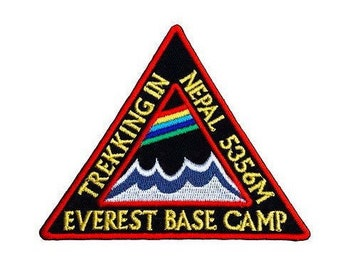 Trekking in Nepal Everest Base Camp Patch Embroidered Iron / Sew on Badge Applique Mountain Trek Souvenir Jacket Bag Backack