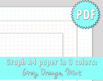 PRINTABLE A4 graph grid paper - DIY traveler's notebook inserts/bullet journal and more!