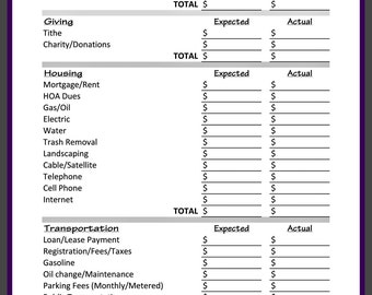 financial journal etsy