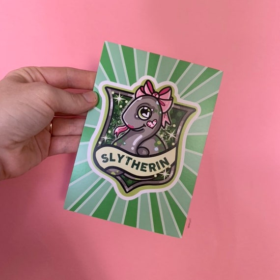 Serpentard Kawaii Carte Postale Mini Imprime Tatouage Art Etsy