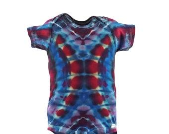 Fractal Effect 18 month Onesie. Psychedelic tie dye onesie.  KO18M1385
