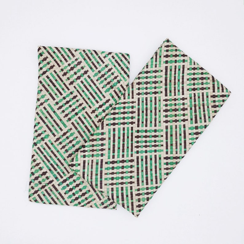 Handmade Quilted Stylish Eco-Friendly /& Sustainable Material Pandan Leaves Clutch or Evening Bag Great For Vegan by EcoQuote