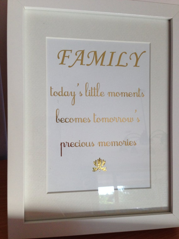 Family Quote Golf Foil Framed Quote