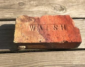 Antique Reclaimed Brick Walsh Missouri  Vintage Handmade Brick