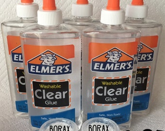 Clear glue for slime etsy elmers clear glue borax ships free to the usa make slime make a ccuart Gallery