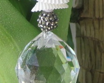 Feng Shui Crystal - Pearls - Shells Pendent New! Hand Made in USA Free Shipping!