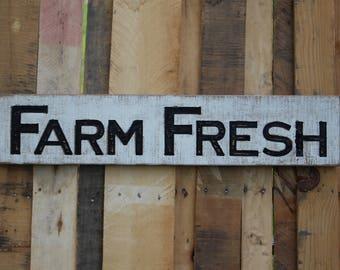 Farm Fresh Farmhouse Sign- Horizontal