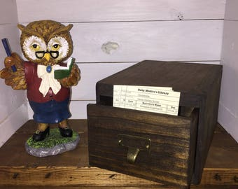 Library SINGLE Drawer Card Catalog-Place Card Holder