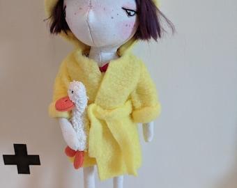 Cora- handmade doll , ooak doll, art doll, decorative doll