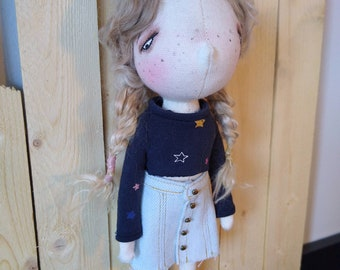 Emily- handmade, dolls, handmade dolls, one of a kind doll, ooak dolls, decorative doll