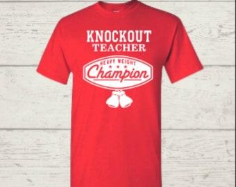 Knockout Teacher Tee
