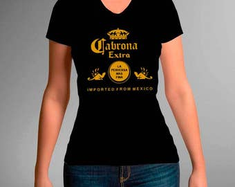 c92a4954401 Corona Extra La perverse mas Fina Imported from Mexico woman t-shirt
