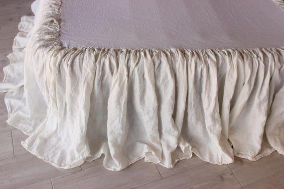 "18 /"" FULL WHITE BED SKIRT DUST RUFFLE TAILORED  SPLIT CORNERS made in  usa"