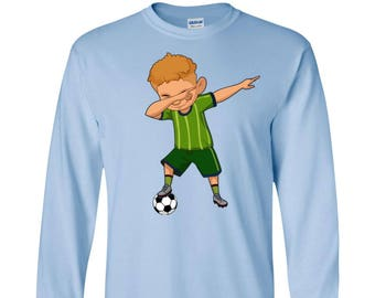 97847c3e0 Dabbing Soccer Player Long Sleeve Tshirt